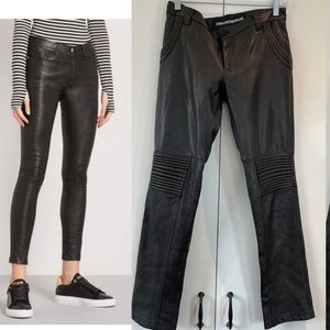 Zadig & voltaire genuine leather moto pants FR 36
